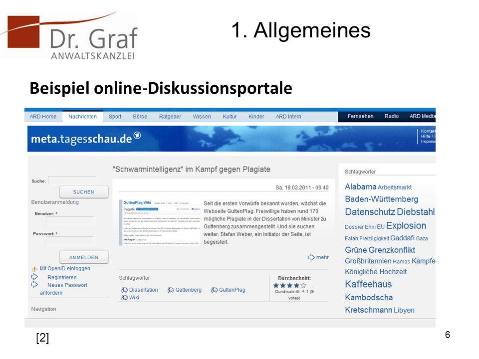 1. Allgemeines Beispiel online-Diskussionsportale [2]